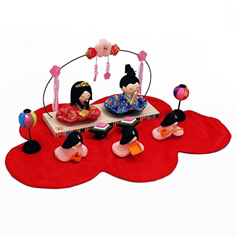 夢花飾り雛 ちりめん 雛人形 ひな人形 水琴鈴特典付オリジナル雛人形 雛 ミニ 雛飾り 初節句 雛まつり