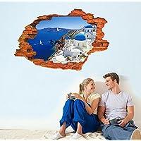 樱のホーム サントリーニギリシャ 休日スタイルのステッカールーム 家の装飾着脱式デカールギフト(図示)