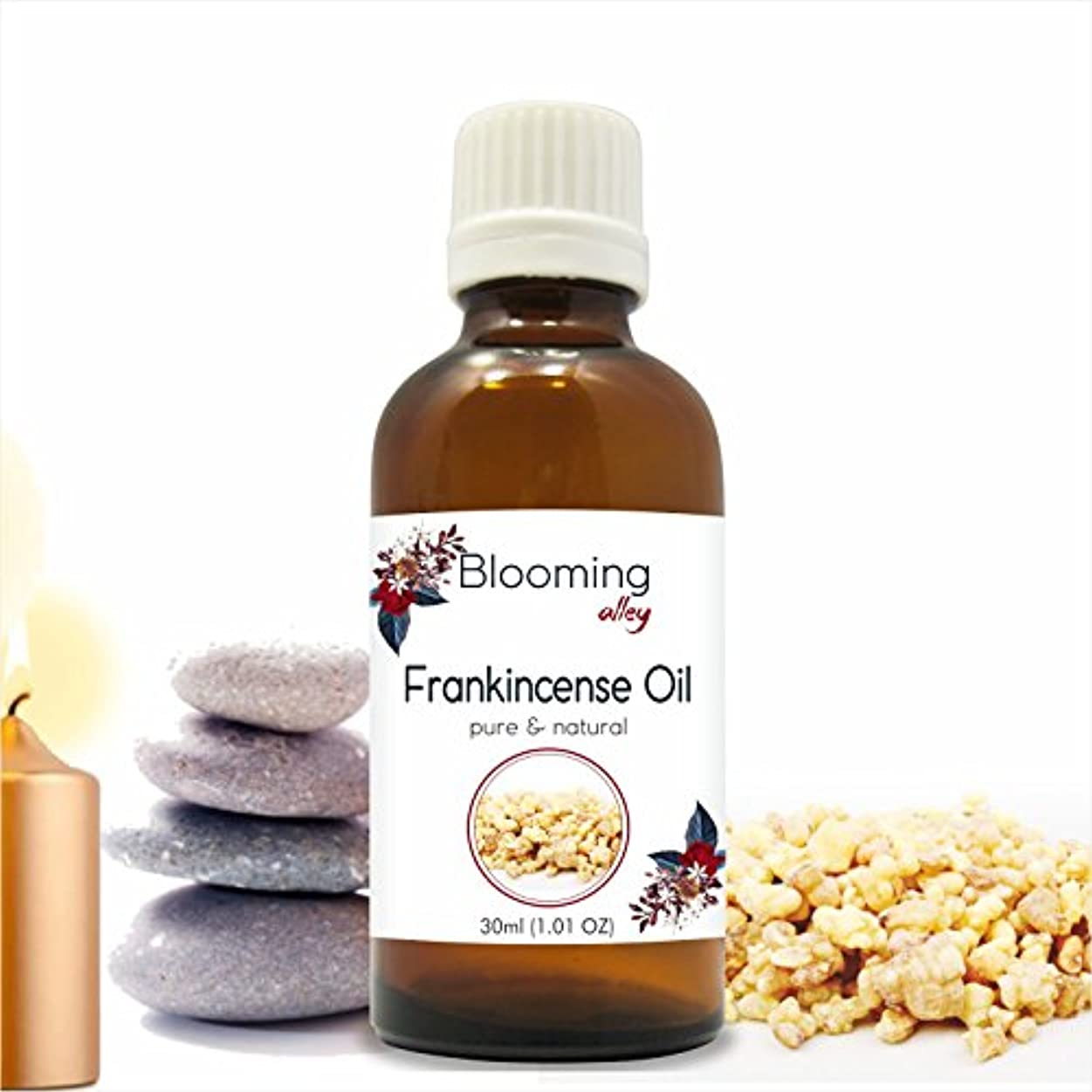Frankincense Oil (Boswellia Carteri) Essential Oil 30 ml or 1.0 Fl Oz by Blooming Alley