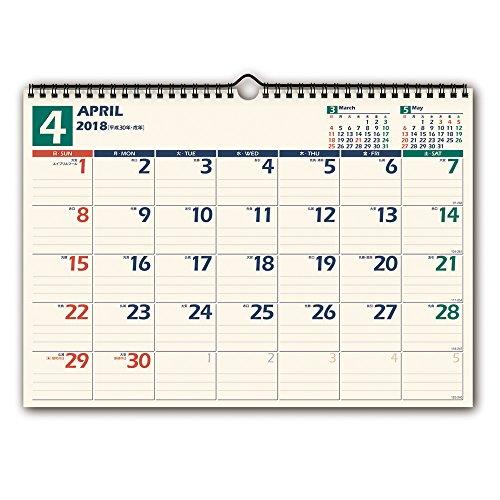 能率 NOLTY カレンダー 2018年 4月始まり 壁掛け...