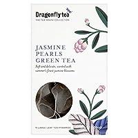 (Dragonfly (トンボ)) ジャスミン真珠パックあたりの緑茶のピラミッドバッグ15 (x6) - Dragonfly Jasmine Pearls Green Tea Pyramid Bags 15 per pack (Pack of 6) [並行輸入品]