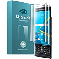 KlearLook BlackBerry Priv 全面保護液晶フィルム 高光沢 フレックスタイム 耐衝撃液晶保護フィルム 3枚セット付き (TPU)