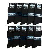 紳士靴下「抗菌防臭ビジネスソックス(黒)25-26cm」10足セット