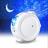WIFI Projector Night Light, ALED LIGHT Upgraded Smart LED Projection Light Stars Water Wave Moon 3in1 Starry Sky Home Light W