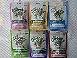 正規品 猫用グリニーズ 6種完全セット (ローストチキン味、グリルフィッシュ味、香味サーモン味、フィッシュ味&ツナ味/吟選ミックス、グリルチキン味&サーモン味/旨味ミックス、グリルチキン・西洋マタタビ風味)