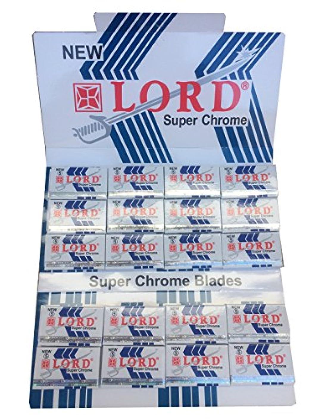 のど造船絶縁するLord Super Chrome 両刃替刃 100枚入り(5枚入り20 個セット)【並行輸入品】