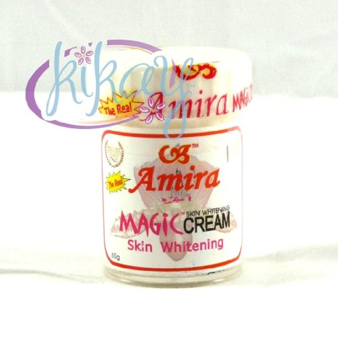 昼食結果パフAMIRA THE REAL MAGIC CREAM【SKIN WHITENING CREAM 60g】PHILIPPINES〈スキン ホワイトニング クリーム〉フィリピン