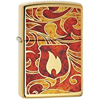 ZIPPO(ジッポー) Flame (フレーム) ライター 28975 High Polish Brass [並行輸入品]