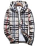 (ドンルルオイン) Dunluluoyin メンズ ジャケット ウインドブレーカー フード付き アウトドア ジャンパー パーカー 防風 超軽量
