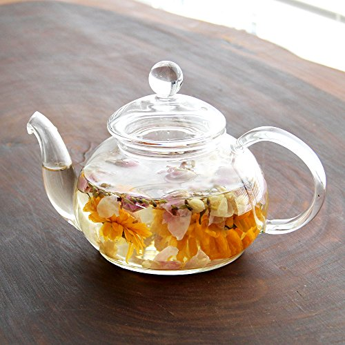 耐熱ガラス紅茶ティーポット 中サイズ 満水:約600ml