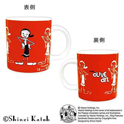 Shinzi Katoh ポパイ マグ A-オリーブオイル ARK-1452-1