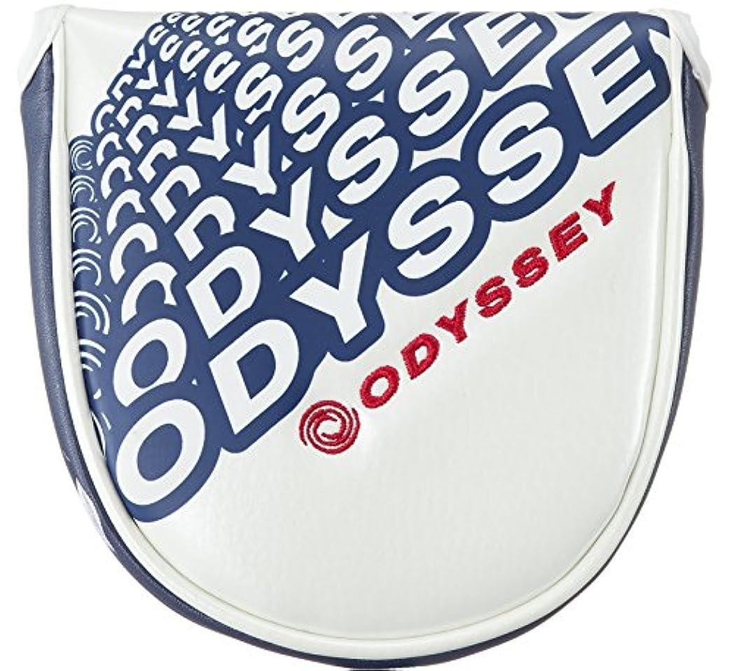 誇りアカデミックスプーンODYSSEY(オデッセイ) ヘッドカバー Snazz Neo Mallet ヘッドカバー パター用 メンズ 5517098 ホワイト