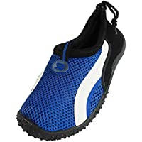 Starbay New Brand Women's Blue Athletic Water Shoes Aqua Socks with White Streak Size 7