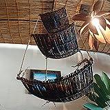 バリ家具・アジアン雑貨・バリウッド:小物をポンポンポンを載せれてなんちゅう便利でええ吊りカゴや!正方形っす [並行輸入品]