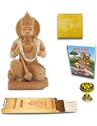 Vedic Vaani Ram Bhakat Hanuman 木製像 ヤントラ チャリサ ディヤ お香スティック付き 100gm