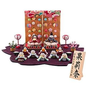 ひな人形 小さい Shop Original 木札 L 桜雛 10人揃い リュウコドウ 公認ショップ