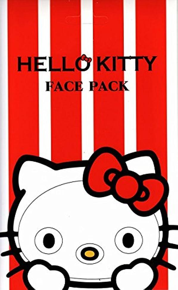 キロメートル牛肉厳しいハローキティ なりきりフェイスパック バラの香り キティになれるフェイスパック