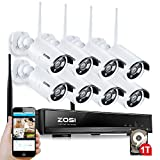 Best ZOSIカメラ - ZOSI ワイヤレス防犯カメラセット ワイヤレスカメラ8台 無線接続 200万画素  赤外線暗視  スマホ/PC遠隔監視対応 動体検知 スケジュール録画 ハードディスク1TB付き Review