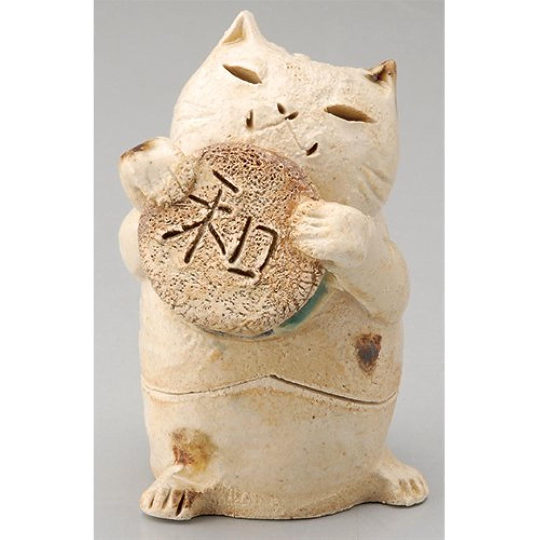 仲間打ち負かす空の香炉 ごえん猫 香炉(和) [H8cm] HANDMADE プレゼント ギフト 和食器 かわいい インテリア