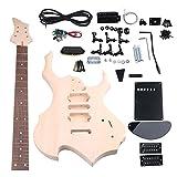 Yibuy メープル HSHピックアップ 1トーン1バリューノブ エレクトリックギター DIYビルダーキット すべてのアクセサリーを付ける