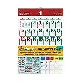 【2020年版・壁掛】 シーガル ビニールポケットカレンダー B2変形判