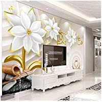 Mrlwy 壁紙高級花エンボステレビ背景壁背景壁画-250X175CM