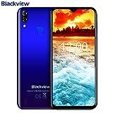 Blackview A60 PRO SIMフリースマートフォン Android 9.0 6.1インチ19.2:9 HD+大画面 MT6761 2.0GHz クアッドコア 3GB RAM + 16GB ROM グローバルLTEバンド対応 8MP/5MPカメラ デュアルSIM(Nano) 顔認証 指紋認識 4080mAh大容量 バッテリー スマホ au不可 [一年保証](ブルー)