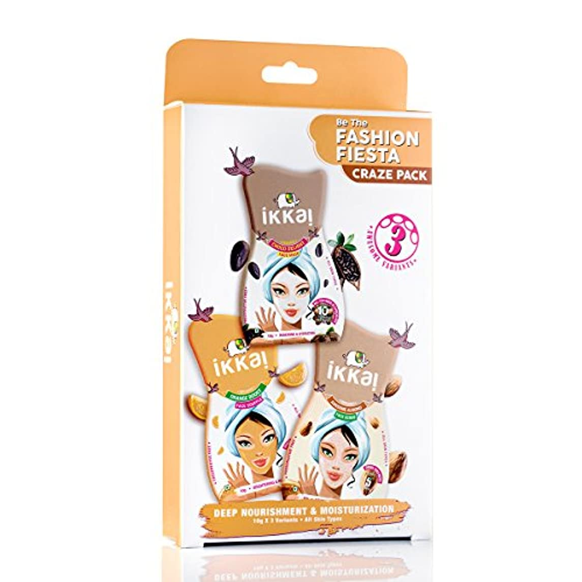 Ikkai by Lotus Herbals Fashion Fiesta Craze Pack (1 Face Mask, 1 Face Scrub and 1 Face Souffle)