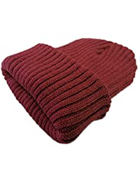 (JOIN?K)ニット帽 帽子 ワッチキャップ ざっくり リブ編み 無地 シンプル ニットキャップ