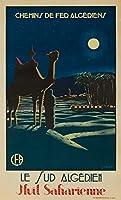 Le Sud Algerien–Nuit saharaienneヴィンテージポスター(アーティスト: Besse )アルジェリアC。1930 24 x 36 Giclee Print LANT-63410-24x36