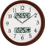 CITIZEN (シチズン) 電波掛け時計 ネムリーナカレンダーM01 ブラウンメタリック色 4FYA01-006