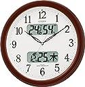 CITIZEN シチズン 掛け時計 電波時計 温度 湿度計付き ネムリーナカレンダー M01 ブラウン 4FYA01-006