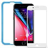 ESR iPhone8 Plus / 7 Plus ガラスフィルム 全面 フルカバー 【パネルカラー自由変化】 アイフォン 8 / 7 Plus 高品質 5.5インチ 強化ガラス 全面保護フィルム 位置付けフレーム付属 / ケースに干渉せず (iPhone 8 Plus / 7 Plus ガラスフィルム;ホワイト)