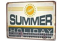 カレンダー Perpetual Calendar Fun rative Summer holiday Tin Metal Magnetic