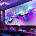 Wxmca 人格抽象誇張フレスコ画レストランクラブKtvバー3Dの壁紙カラフルなインクジェットモダンな装飾壁画-250X175Cm