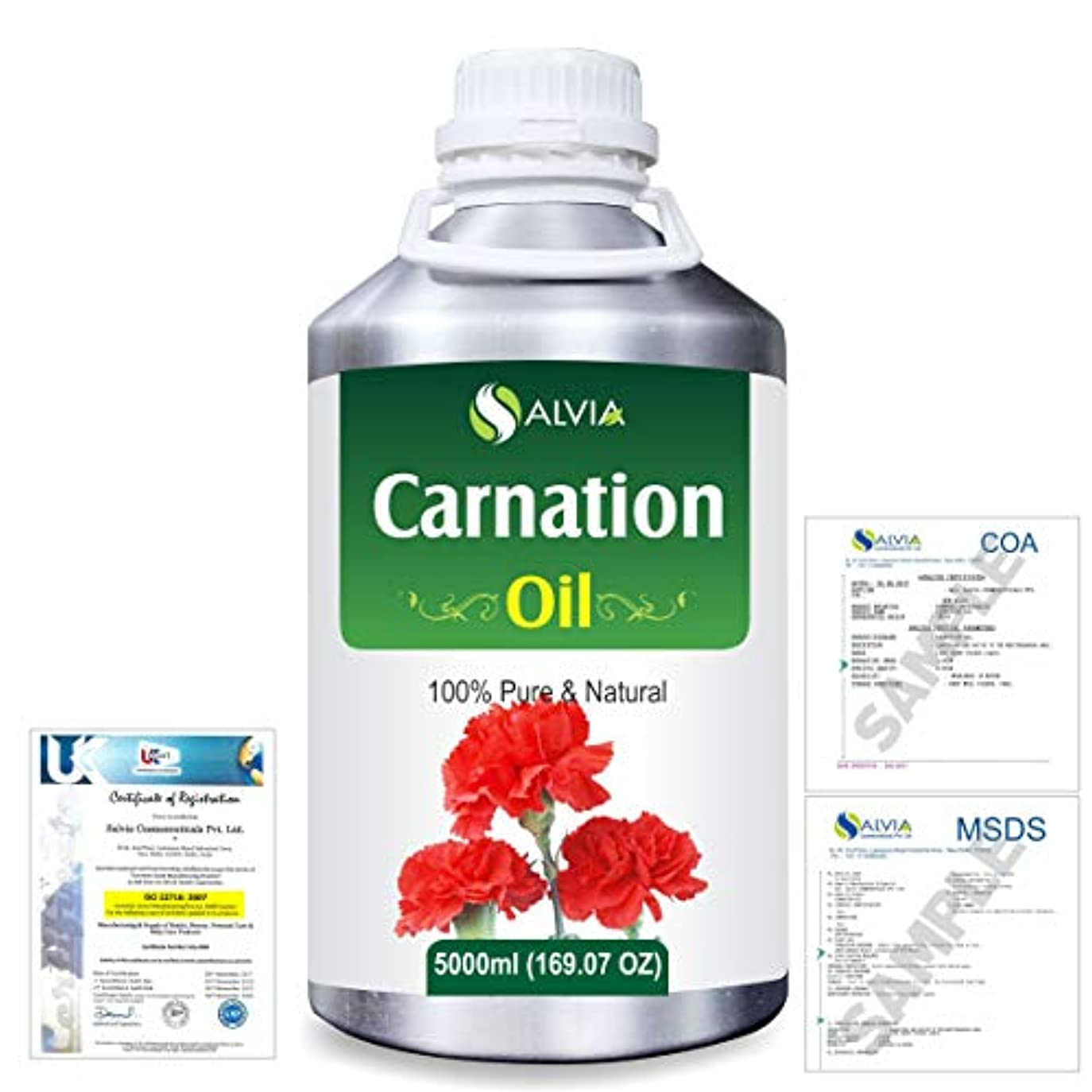 猛烈な表面襲撃Carnation (Dianthus caryophyllus) 100% Natural Pure Essential Oil 5000ml/169fl.oz.