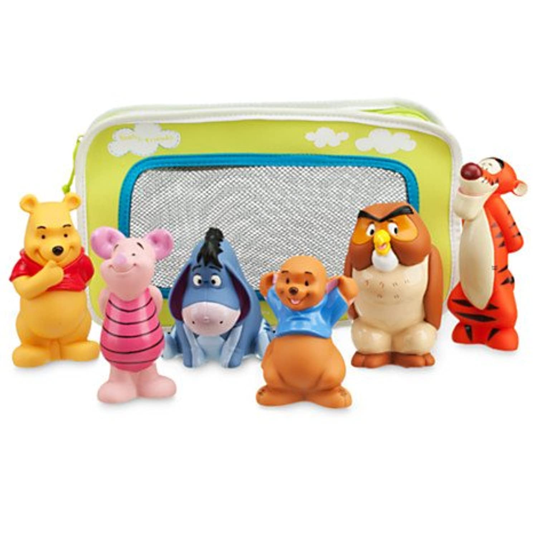 Disney ディズニー Winnie the Pooh and Pals Bath Toys 赤ちゃん ベイビー キッズ 子供 お風呂 バス おもちゃ クマのプーさん プーさん ティガー イーヨー ピグレット カンガ オウル 6点セット