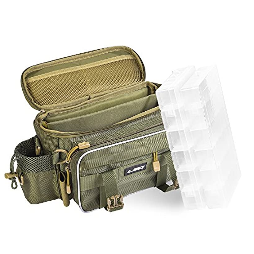 教育者エコー支援するIrfora 多機能 釣り袋 釣り タックル バッグ アウトドアスポーツ ユーティリティーストレージバッグ フィッシングタックルボックスユーティリティケース2個付き