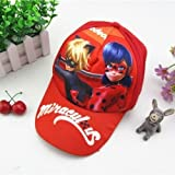 AuCatStore(TM) Fashion Miraculous Ladybug Kids Canvas Baseball Sun Cap Adjustable Hat