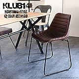 KLUB14 インダストリアル家具 椅子 チェアー レザー 革皮 ゴートレザー アンティーク インテリア REC305DB