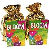 Gamewright ブルーム 野生の花 サイコロゲーム 2個セット ゴールド布製収納ポーチ2個付き