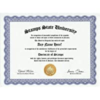 Stamp Collector Stamps Degree: Custom Gag Diploma Doctorate Certificate (Funny Customized Joke Gift - Novelty Item) by GD Novelty Items [並行輸入品]