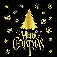 Nessere 静電気ステッカー ウィンドウステッカー クリスマスデコレーション ホームパーティー 装飾 DIY ウォールステッカー グリーン
