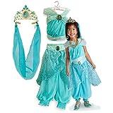 新作 ディズニープリンセス Disney Princess Aladdin Jasmine Costume Tiara 2013 子供 キッズ 衣装 コスチューム & ティアラ 2点セット アラジン ジャスミン 100 XSサイズ 3-4歳