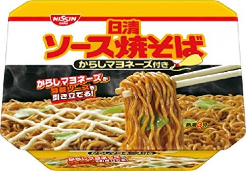日清 ソース焼そば からしマヨネーズ 108G × 12個