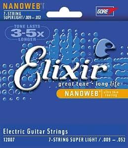 Elixir エリクサー エレキギター弦 NANOWEB 7弦 Super Light .009-.052 #12007 【国内正規品】