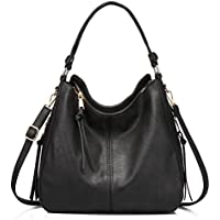 Synthetic Leather Handbags for Women Shoulder Bag Cross Body Bag Designer Handbags Large Tote Bag Hobos Bag with Tassel Black