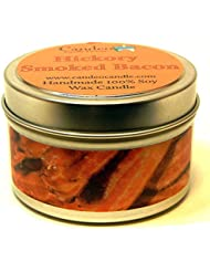 (120ml) - Hickory Smoked Bacon 120ml, Super Scented Soy Candle Tin