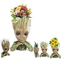 Prime Sale日Deals週Amazon 2018-creative GrootプランターポットGuardians Of The Galaxy Flowerpot Baby Grootアクションフィギュアモデルおもちゃかわいいペンポット鉛筆ホルダーBest Gifts For Kids
