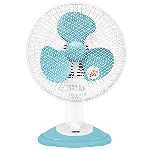 山善(YAMAZEN) 18cm卓上扇風機 (ロータリースイッチ)(風量2段階) ブルー YDS-E186(A)